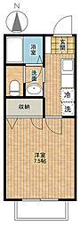 リバーサイドハイツ3[1階]の間取り