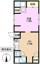 長野県上田市諏訪形の賃貸アパートの間取り