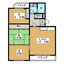 マンション富士[3階]の間取り