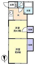 第3ホワイトコーポ[1階]の間取り