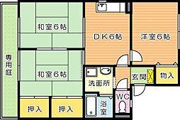 セジュール鴨生田 A棟[1階]の間取り