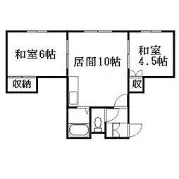 北海道札幌市豊平区月寒東二条19丁目の賃貸マンションの間取り