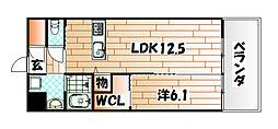 ウィングス八幡駅前新築[14階]の間取り