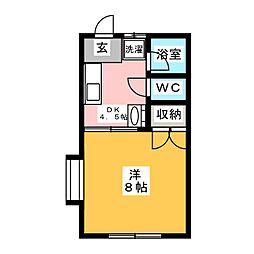 フォーレスト富士[1階]の間取り