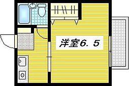 広島県安芸郡府中町本町1丁目の賃貸アパートの間取り