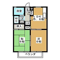 サンガーデン菊田[1階]の間取り