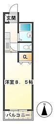 サンロイヤル東丸之内[305号室]の間取り