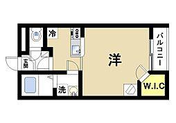 奈良県生駒市小平尾町の賃貸アパートの間取り