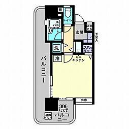 アルファコンフォート福岡西新[305号室]の間取り