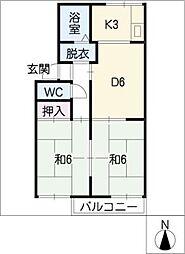 セジュール下条[2階]の間取り
