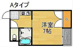 セラ北加賀屋B棟[5階]の間取り
