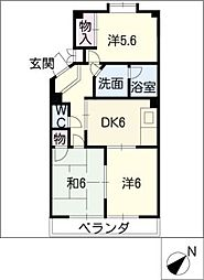 オリオン102[3階]の間取り