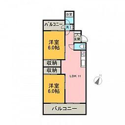 翠光マンション[3階]の間取り