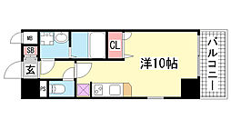 エスリード神戸海岸通[8階]の間取り