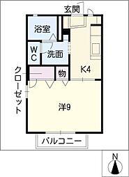 タウンコートながら A棟[1階]の間取り
