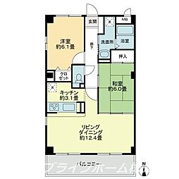 フィネス藍住[4階]の間取り