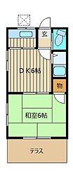 霞コーポ[2階]の間取り