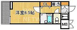 リーガル京都河原町III[201号室号室]の間取り