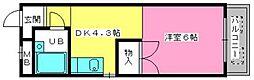 渡辺ハイツ[308号室]の間取り
