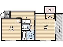 ケオラホウ[5階]の間取り