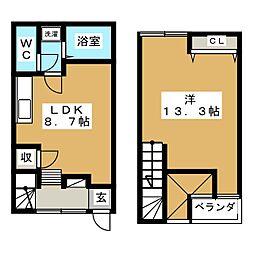 メゾネットM[2階]の間取り