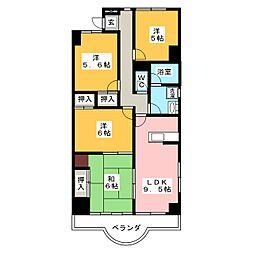 天神山マンション II号館[1階]の間取り