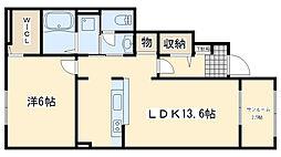 レスペランス I[1階]の間取り