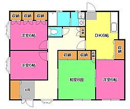 JUN東村山 B棟[1階]の間取り
