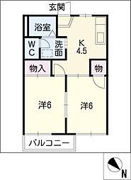 プチタウン下塩田B棟[1階]の間取り