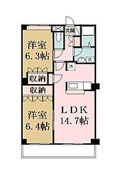 埼玉県八潮市八潮2丁目の賃貸マンションの間取り