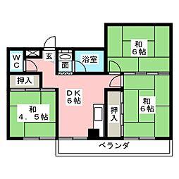 ハイツヨシダ[4階]の間取り