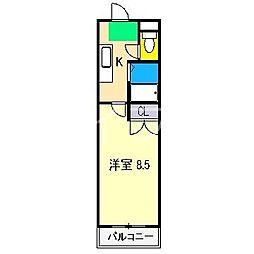 セブンシーズ永国寺[5階]の間取り