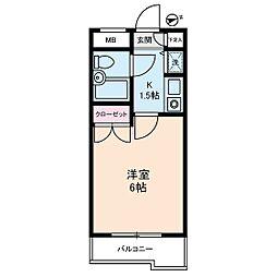 ジョイフル蒲田[0201号室]の間取り