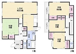 [一戸建] 神奈川県横須賀市山科台 の賃貸【/】の間取り