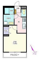 パレットハウス[1階]の間取り