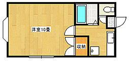 新潟県新潟市東区中木戸の賃貸アパートの間取り