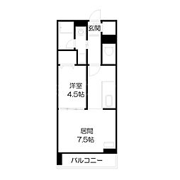 北海道札幌市中央区北一条西21丁目の賃貸マンションの間取り