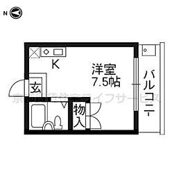 クラインハウス[306号室]の間取り