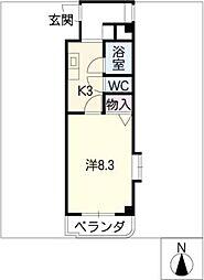 ロイヤル勝川[3階]の間取り