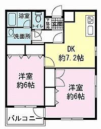 静岡県伊豆の国市古奈の賃貸マンションの間取り