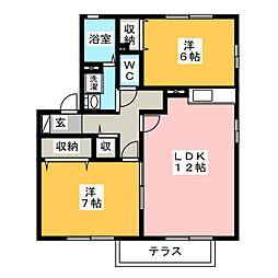 レーベン[1階]の間取り