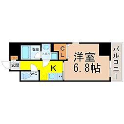 愛知県名古屋市北区志賀南通2丁目の賃貸マンションの間取り