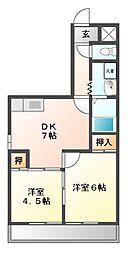 レジデンスITAZU[4階]の間取り