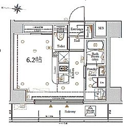 都営浅草線 本所吾妻橋駅 徒歩2分の賃貸マンション 3階ワンルームの間取り