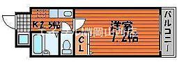 昭和ハイム東古松[4階]の間取り