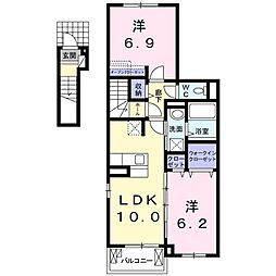 アンハイム[2階]の間取り