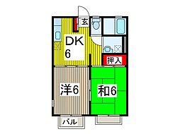 ム−ンハイツ[1階]の間取り