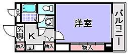 エスポワール鶴山台[3階]の間取り