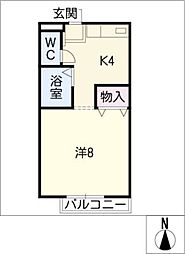 セルテス名塚[1階]の間取り
