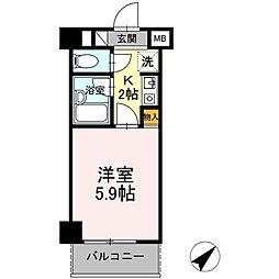 神奈川県相模原市中央区小山1丁目の賃貸マンションの間取り